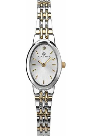 Accurist Womens Analogue Japanese Quartz Watch with Tone Strap LB1337S