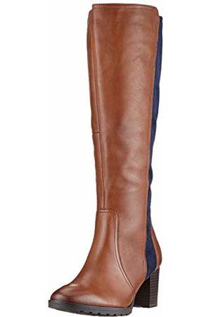 CAPRICE Women's Janika High Boots, (Cognac/Ocean 387)