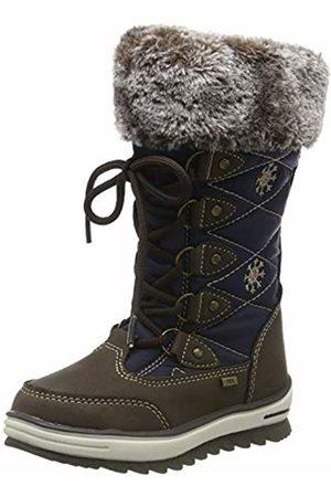 TOM TAILOR Girls' 7972101 Snow Boots, (Mokka-Navy 01872)