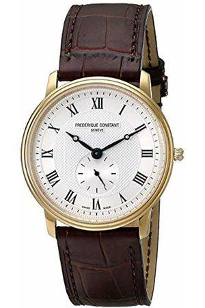 Frédérique Constant Men's Analogue Swiss Quartz Watch with Leather Strap FC-235M4S5