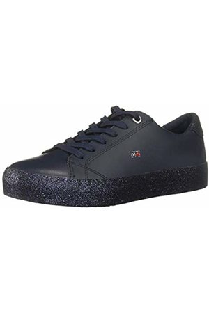 Tommy Hilfiger Women's Corporate Crystal Dress Sneaker Low-Top, (Midnight 403)