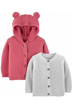 Carters Girls Hooded Neck Long Sleeve Button Cardigan Baby Grey