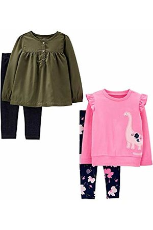 Simple Joys by Carter's 4-piece Long-sleeve Shirts and Pants Playwear Set Olive/ Dino