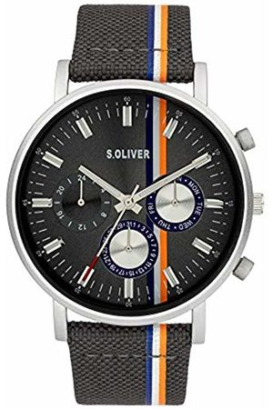s.Oliver Quartz Watch with Tissue Strap SO-3990-LM