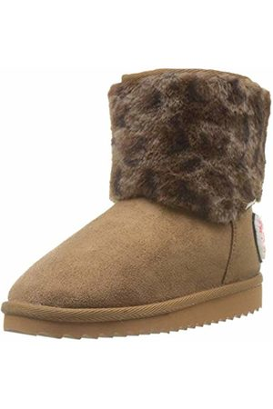 Pepe Jeans London Girls' Angel Leopard Snow Boots, (Tobacco 859)