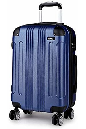 """Kono Hardside ABS Carry On Luggage with 4 Spinner Wheels Navy 20 Inch Suitcase (Navy 20"""")"""