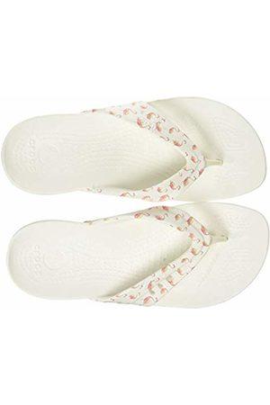 Crocs Women's Kadee Seasonal Printed Flip Flops, (Flamingo/ 6j0)