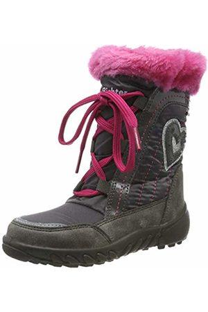 Richter Kinderschuhe Girls' Husky Snow Boots, (Ash/Fuchsia 6301)