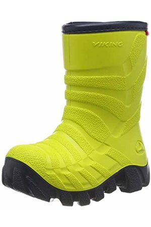 Viking Unisex Kids' Ultra 2.0 Snow Boots, (Lime/Navy 8805)