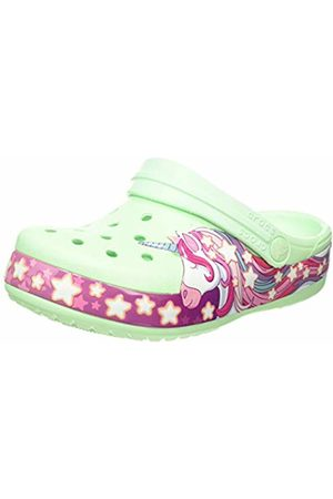 Crocs Unisex Kid's FunLab Unicorn Band Clog, (Neo Mint 3ti)