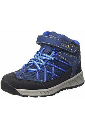 Regatta Unisex Kid's Samaris V Junior Waterproof Hiking Boot High Rise, (Prussian/Neon Spring Abm)