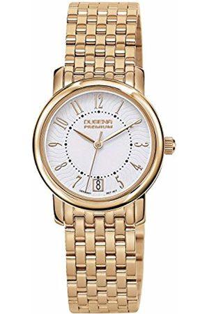 DUGENA Premium Women's Quartz Watch Rondo Petit Arabica 7090132 with Metal Strap