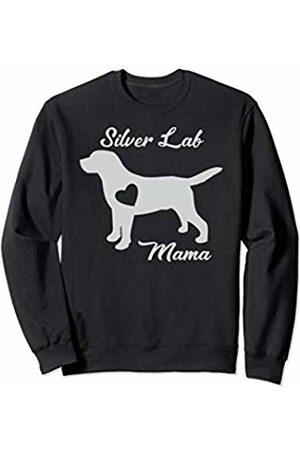 Silver Dog Trading Co. Proud Silver Lab Mama Mom Labrador Retriever Gifts For Women Sweatshirt