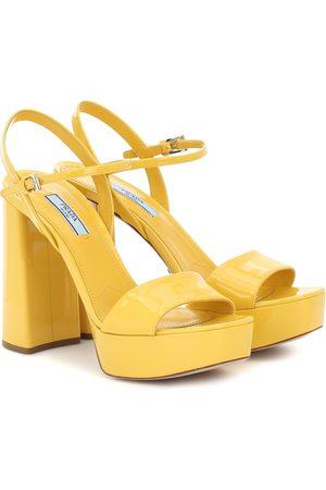 Prada Patent leather plateau sandals