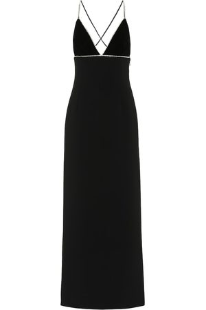 Miu Miu Embellished crêpe maxi dress