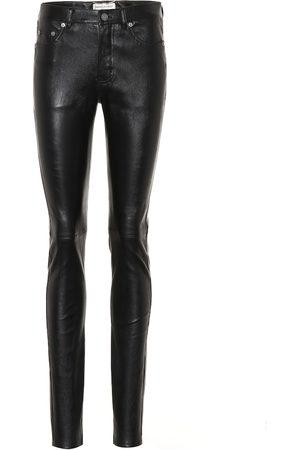 Saint Laurent Women Leather Trousers - Leather skinny pants