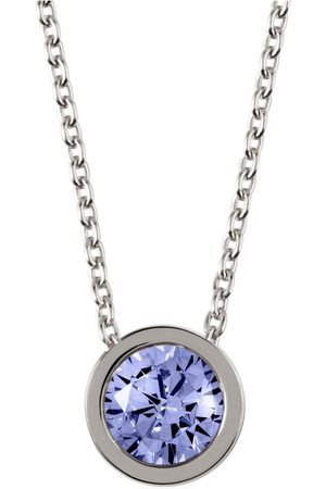 Radley Sterling Silver Chain With Sapphire Stone Set Pendant Ladies Necklace