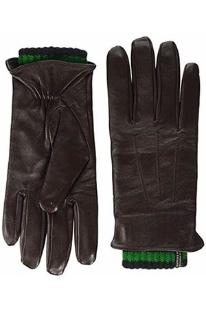 Scotch&Soda Men's Double-Layered Leather and Knitted Gloves