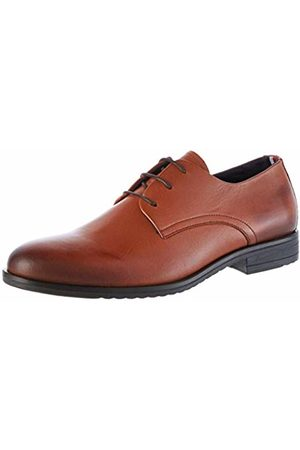 Tommy Hilfiger Men's Core Leather Lace Up Shoe Mocassins, (Natural Cognac Gtu)