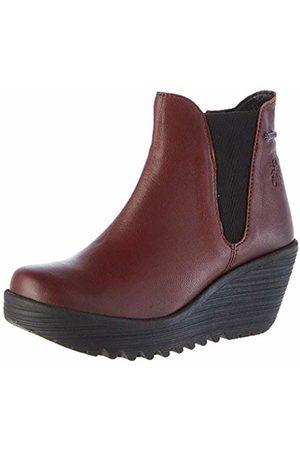 Fly London Women Chelsea Boots - Women's YAZO528FLY Chelsea Boots, (Burgundy 002)