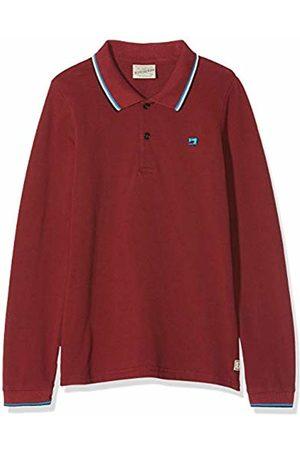 Scotch&Soda Boy's Long Sleeve Pique Polo with Contrast Tipping Shirt