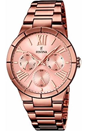 Festina Women's Quartz Watch with Rose Dial Analogue Display and Stainless Steel Plated Bracelet F16798/1