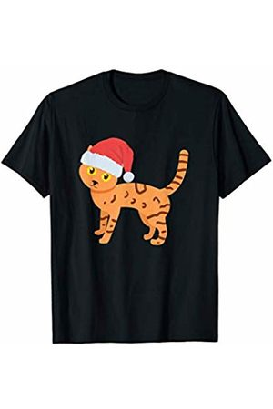 Cat Lovers Christmas Tees Men Hats - Cat Lover, Cat wearing Santa hat