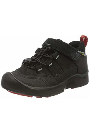Keen Unisex Kids' Blk/Red Low Rise Hiking Boots, (Hikeport WP 1021964)