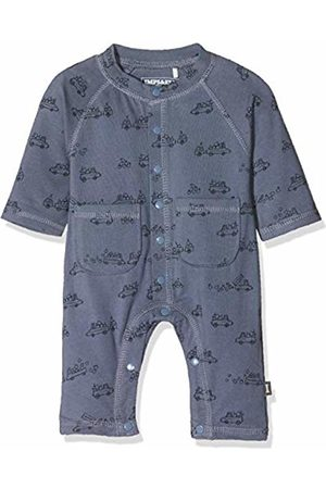 Imps & Elfs Baby Boys' B Overall Long Sleeve Romper
