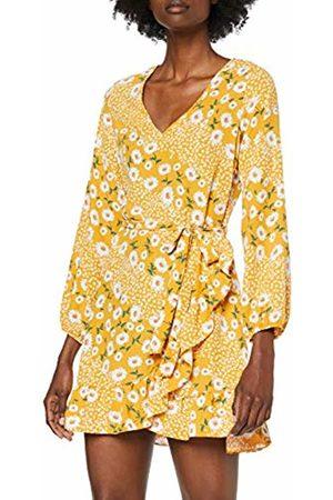 Dorothy Perkins Women's Ochre Ruffle Wrap Dress Party