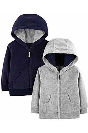 Simple Joys by Carter's 2- Pack Fleece Full Zip Hoodies Hooded Sweatshirt, 24 Months