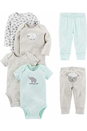 Simple Joys by Carter's Baby 6-Piece Neutral Bodysuits (Short and Long Sleeve) and Pants Set