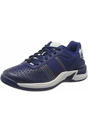 Kempa Unisex Kids' Attack Contender Junior Handball Shoes, (Bleu Nuit/Blanc 06)