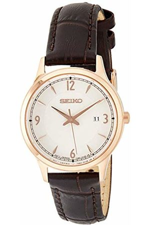 Seiko Women's Analogue Quartz Watch with Leather Strap SXDG98P1