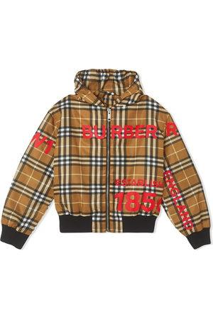 Burberry Signature check lightweight rain jacket - NEUTRALS
