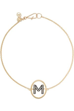 ANNOUSHKA 18kt diamond initial M bracelet - 18ct