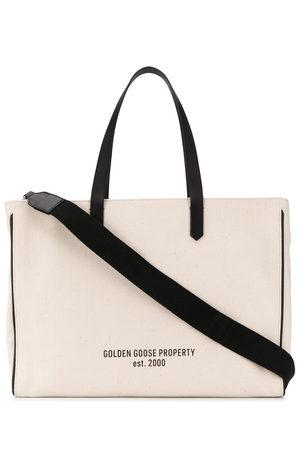 Golden Goose Women Handbags - Slogan print canvas tote - Neutrals