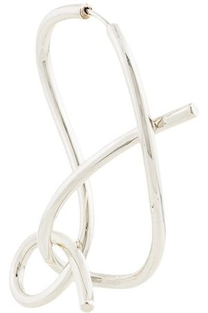 E.M. Whirlpool shaped earring - Metallic