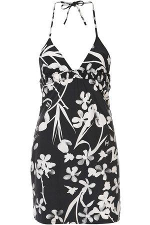 CHANEL Floral print halter top