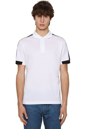 Prada Cotton Piquet Tricot Polo Shirt
