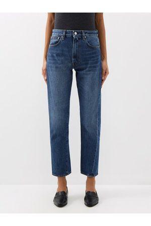 Totême Original Cropped Straight-leg Jeans - Womens - Denim
