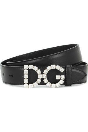 Dolce & Gabbana Embellished DG leather belt