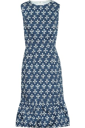 Oscar de la Renta Exclusive to Mytheresa – Printed stretch-cotton poplin dress