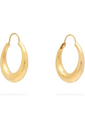 ALL BLUES Fat Snake -vermeil Hoop Earrings - Womens