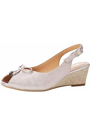 Van Dal Oxley UK 4 /& 8 Bamboo Metallic Wedge Heel Leather Peep Toe Sandals
