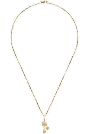 Kiki Mcdonough 18kt Lauren diamond tripple leaf pendant