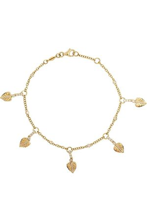 Kiki Mcdonough 18kt Lauren diamond plain leaf bracelet