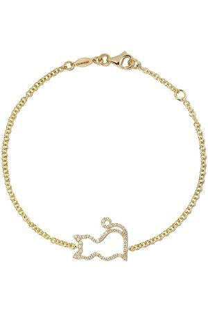 Kiki Mcdonough 18kt Memories diamond-set cat bracelet