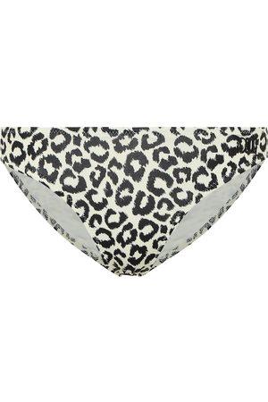 Solid The Eva leopard-print bikini bottoms