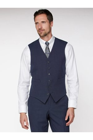 Jeff Banks Texture Travel Waistcoat In Regular Fit